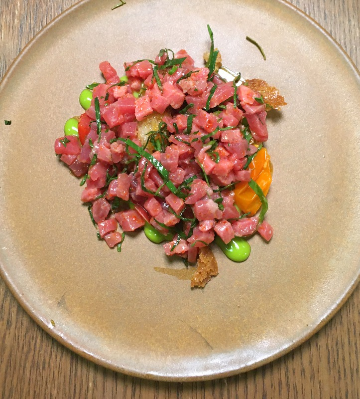 Tartare-with-Shiso Emulsion