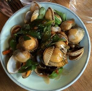 Clam dish at Le Servan