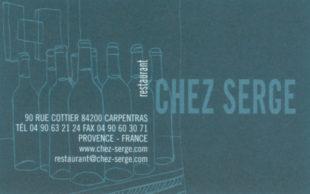 Chez Serge: Great Food in Carpentras